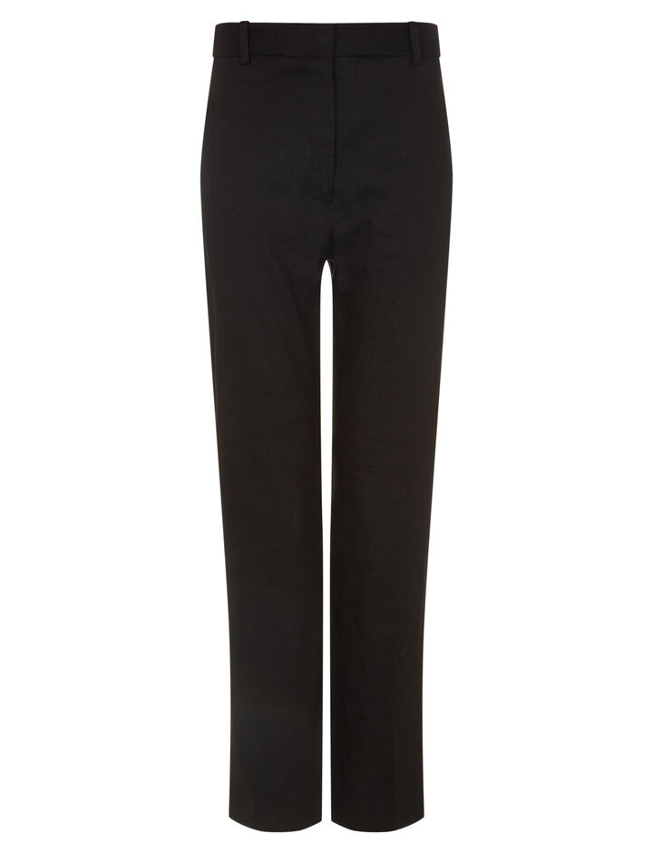 Joseph, Zoom Linen Stretch Trousers, in BLACK