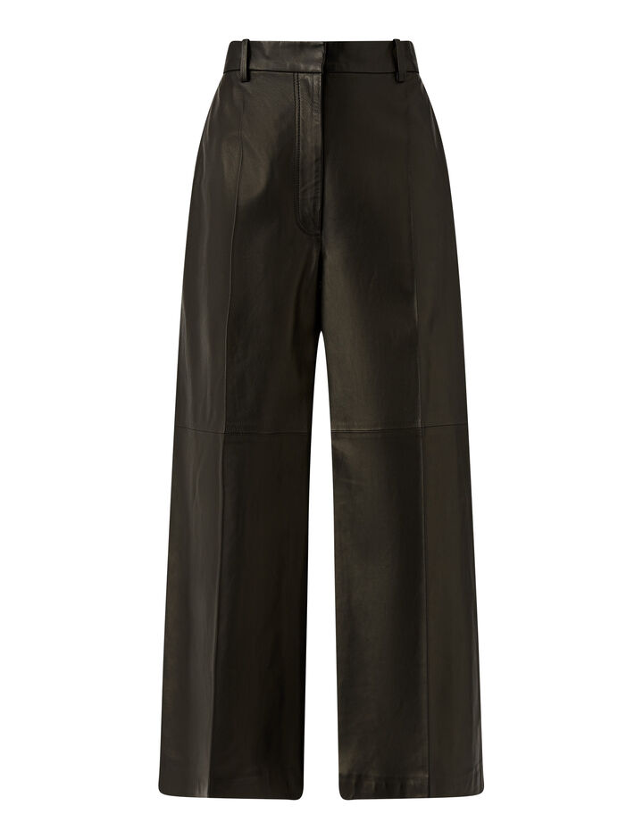 Joseph, Tuba Nappa Leather Trousers, in Black