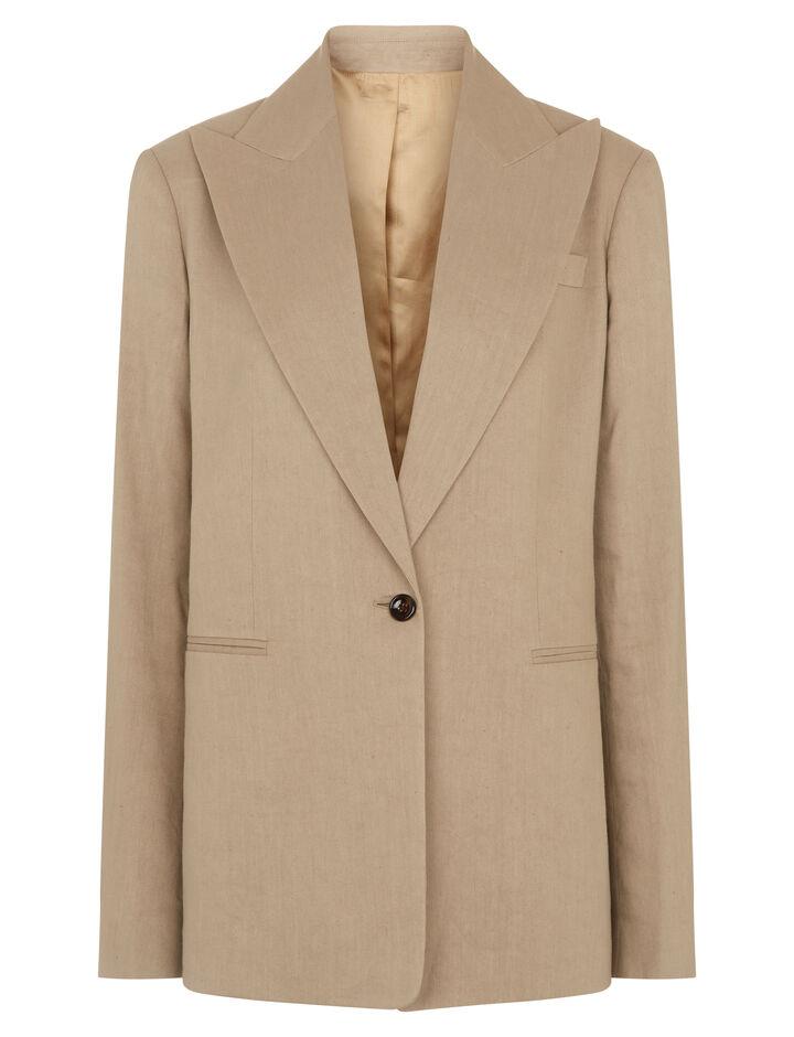 Joseph, New Steed Linen Stretch Jacket, in BEIGE