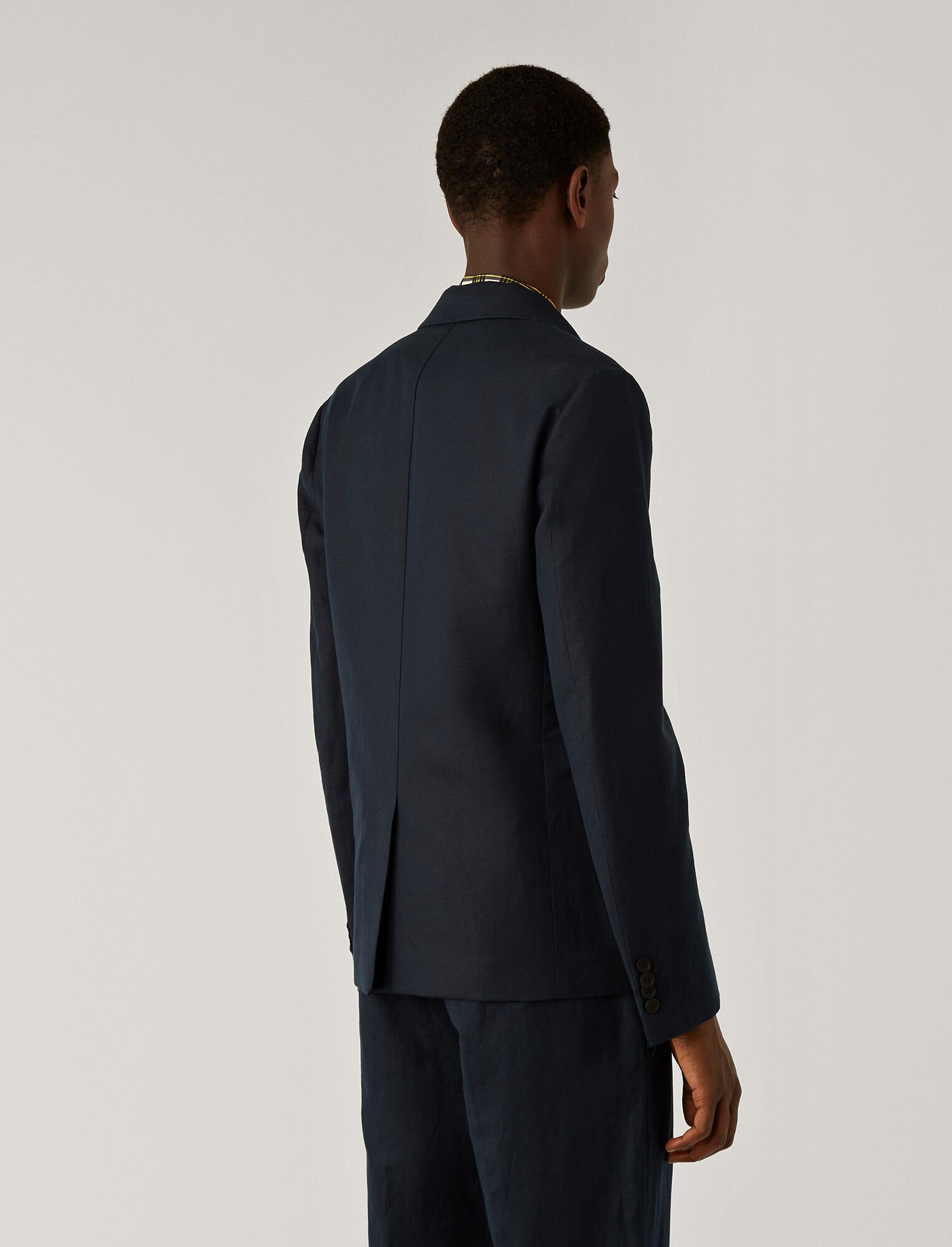 Joseph, Cassis Linen Cotton Blend Jacket, in NAVY