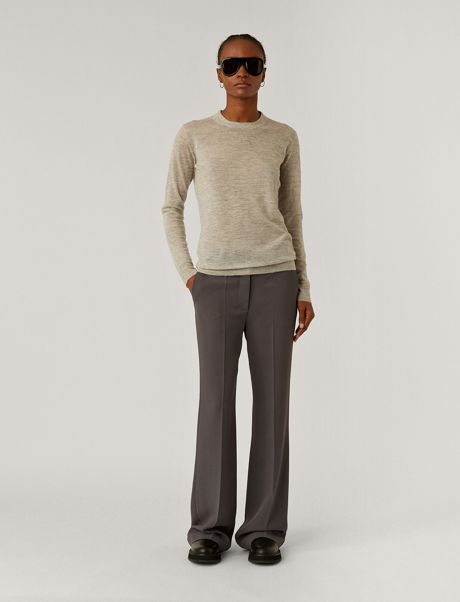 Joseph, Cashair Jumper, in GREY CHINE