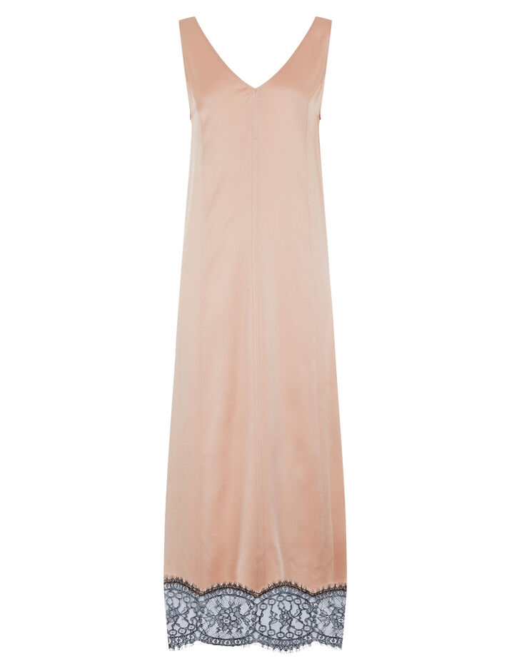 Joseph, Audery Crepe Satin Dress, in FOUNDATION