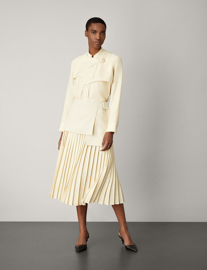 Joseph, Billie Boucle Fuji Silk Skirt, in BONE