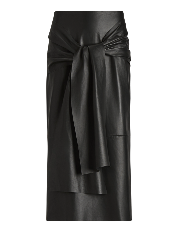 Joseph, Renne Leather Skirt, in BLACK