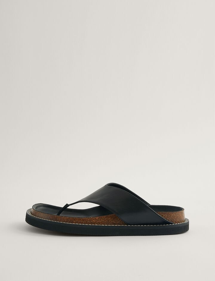 Joseph, Fussbett Thong Sandal, in BLACK