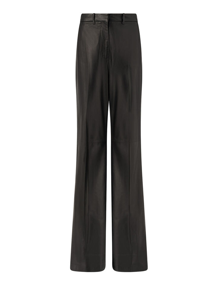 Joseph, Tambo Nappa Leather Trousers, in Black