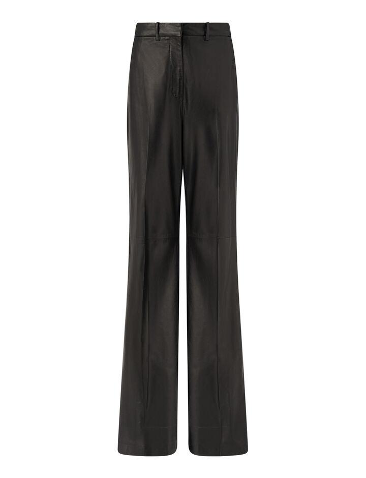 Joseph, Tambo Nappa Leather Trousers, in Black