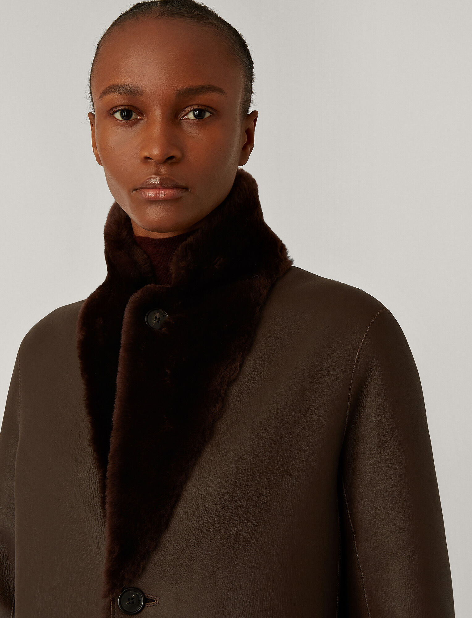 Joseph, Brittany Polar Skin Sheepskin, in Chocolate