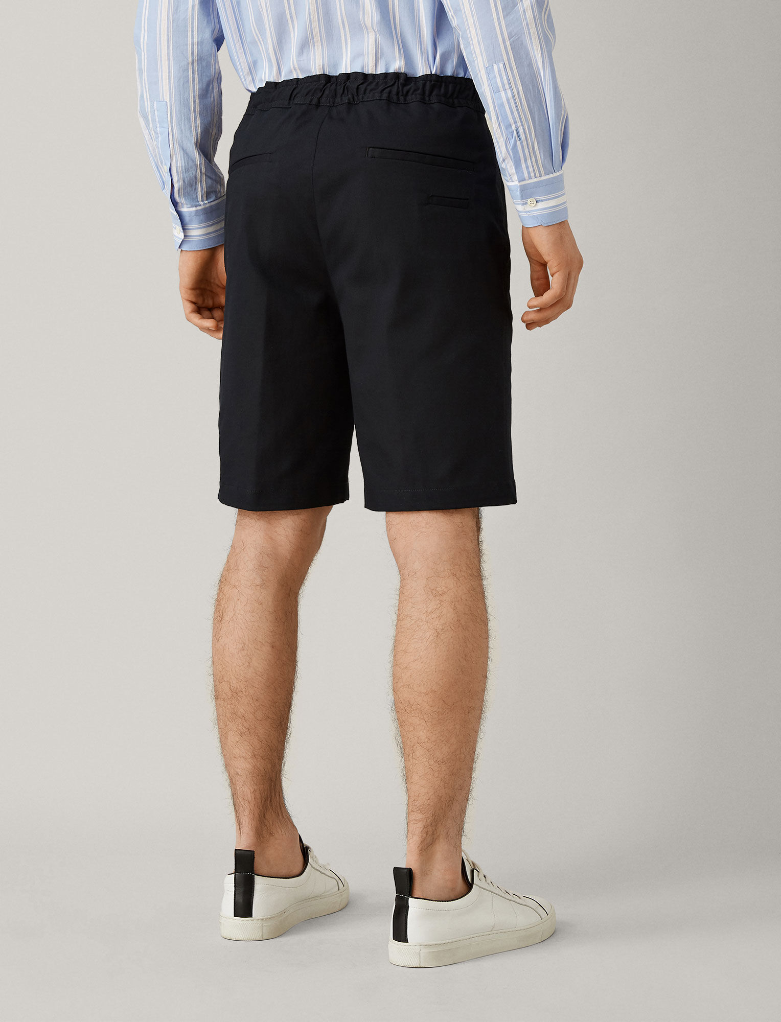 Joseph, Pins Cotton Drill Stretch Shorts, in NAVY