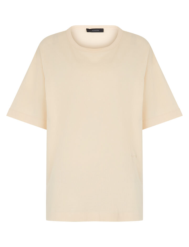 Joseph, Perfect Jersey Tee, in VANILLA
