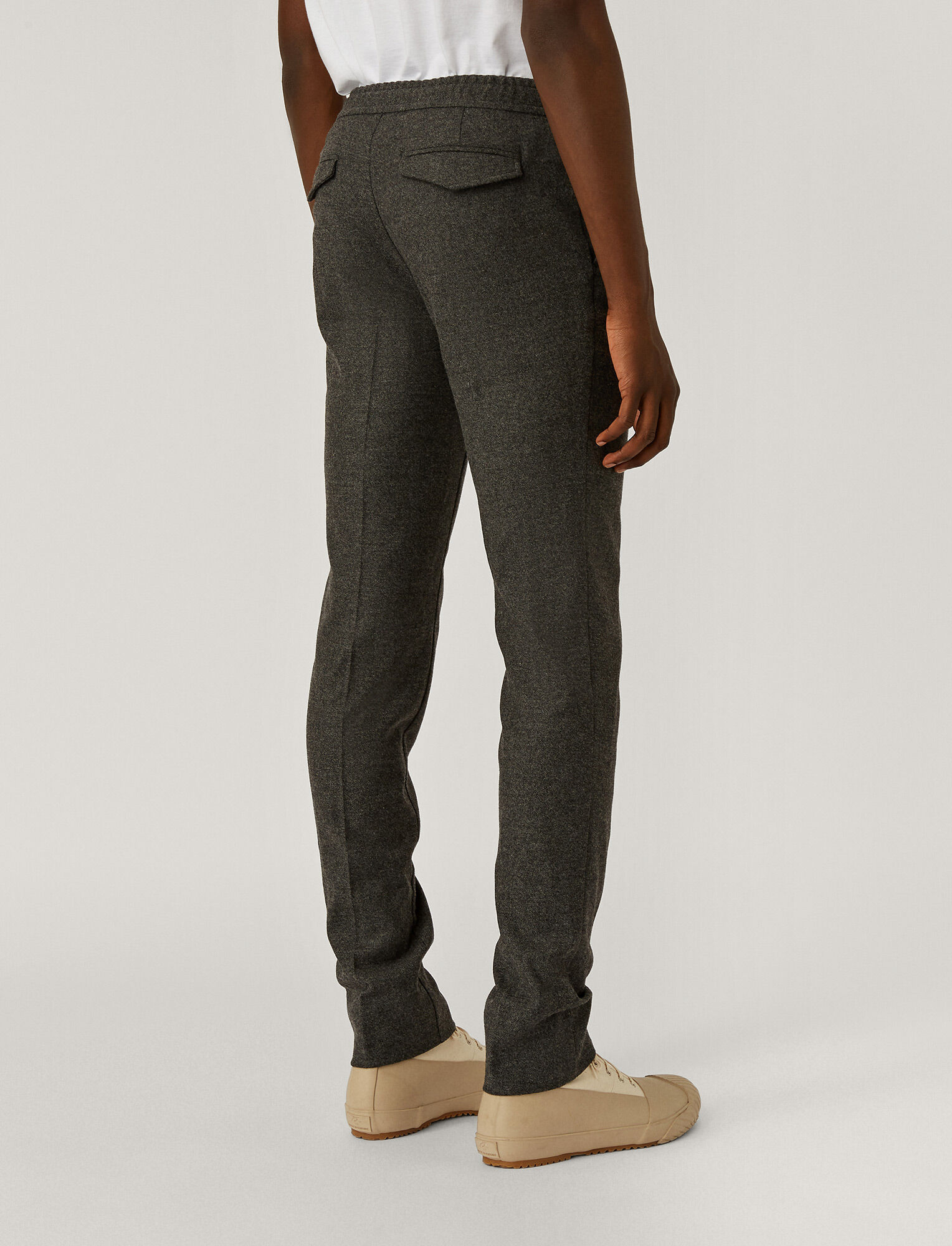 Joseph, Saxony Stretch Trousers, in Grey