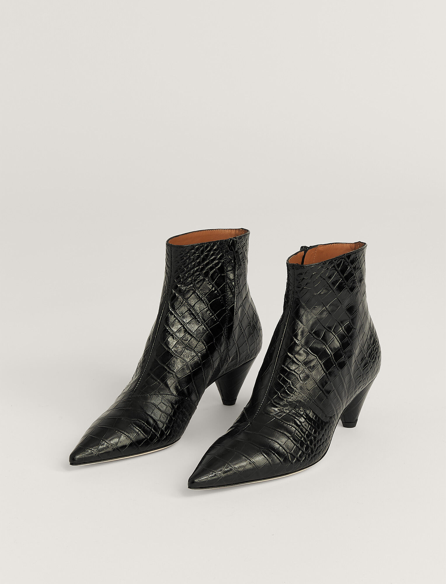 Joseph, Bottines Hanae en cuir, in BLACK