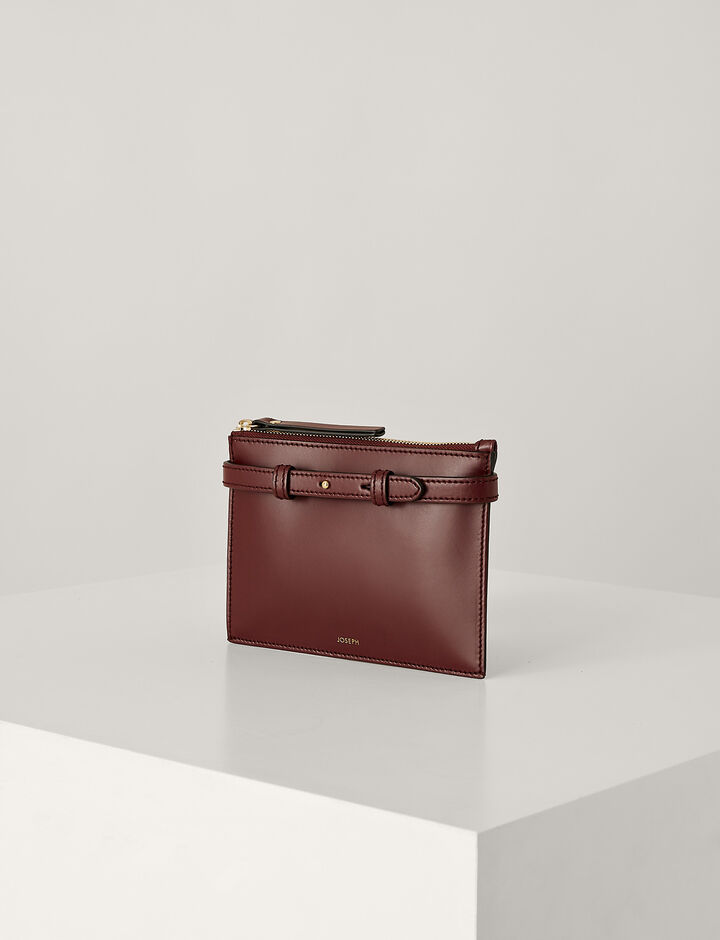 Joseph, Montmartre Leather Bag, in GARNET