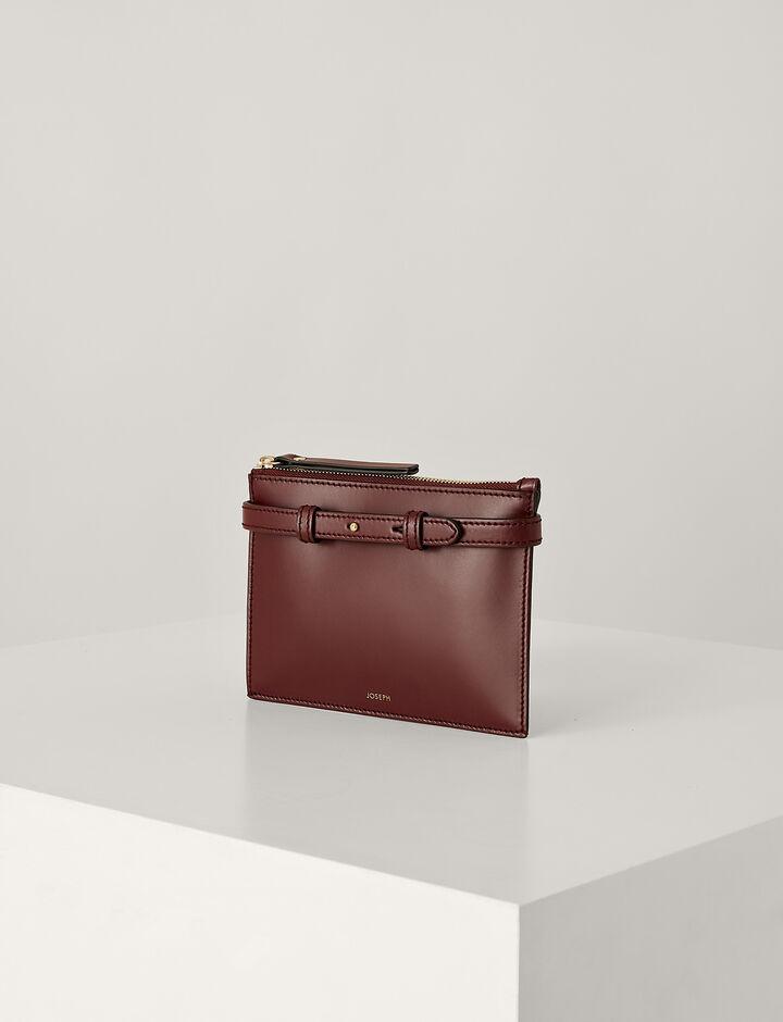 Joseph, Montmartre Leather Bag, in GARNET