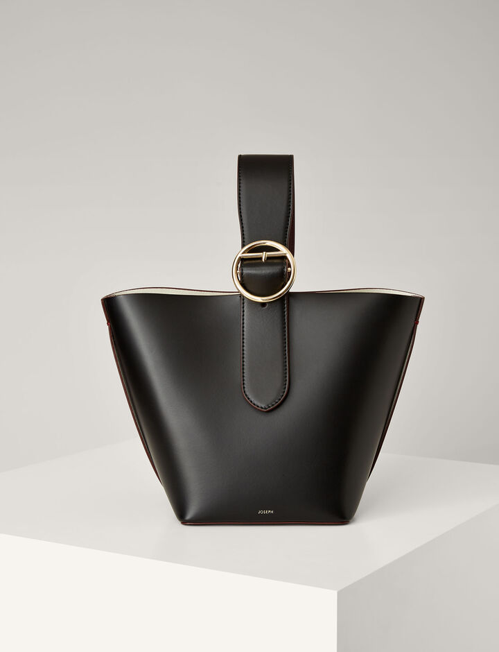 Joseph, Leather Sevres Bag, in BLACK