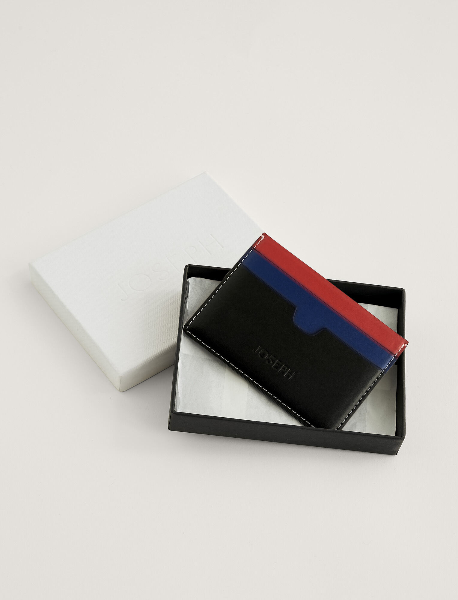 Joseph, Porte-cartes, in MIX 2 TOMATO/COBALT/BLACK