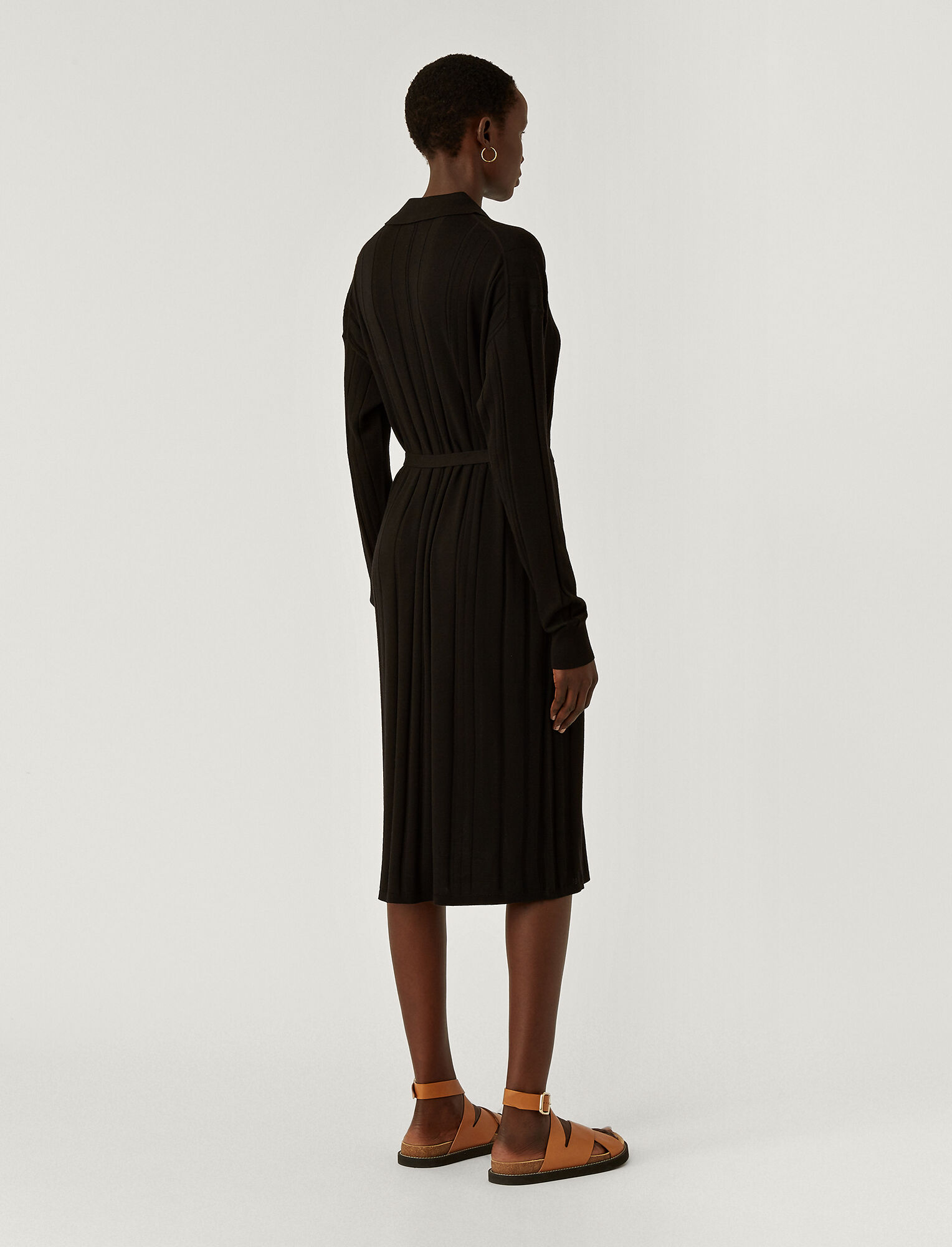 Joseph, Fine Merinos Oversized Dress, in BLACK