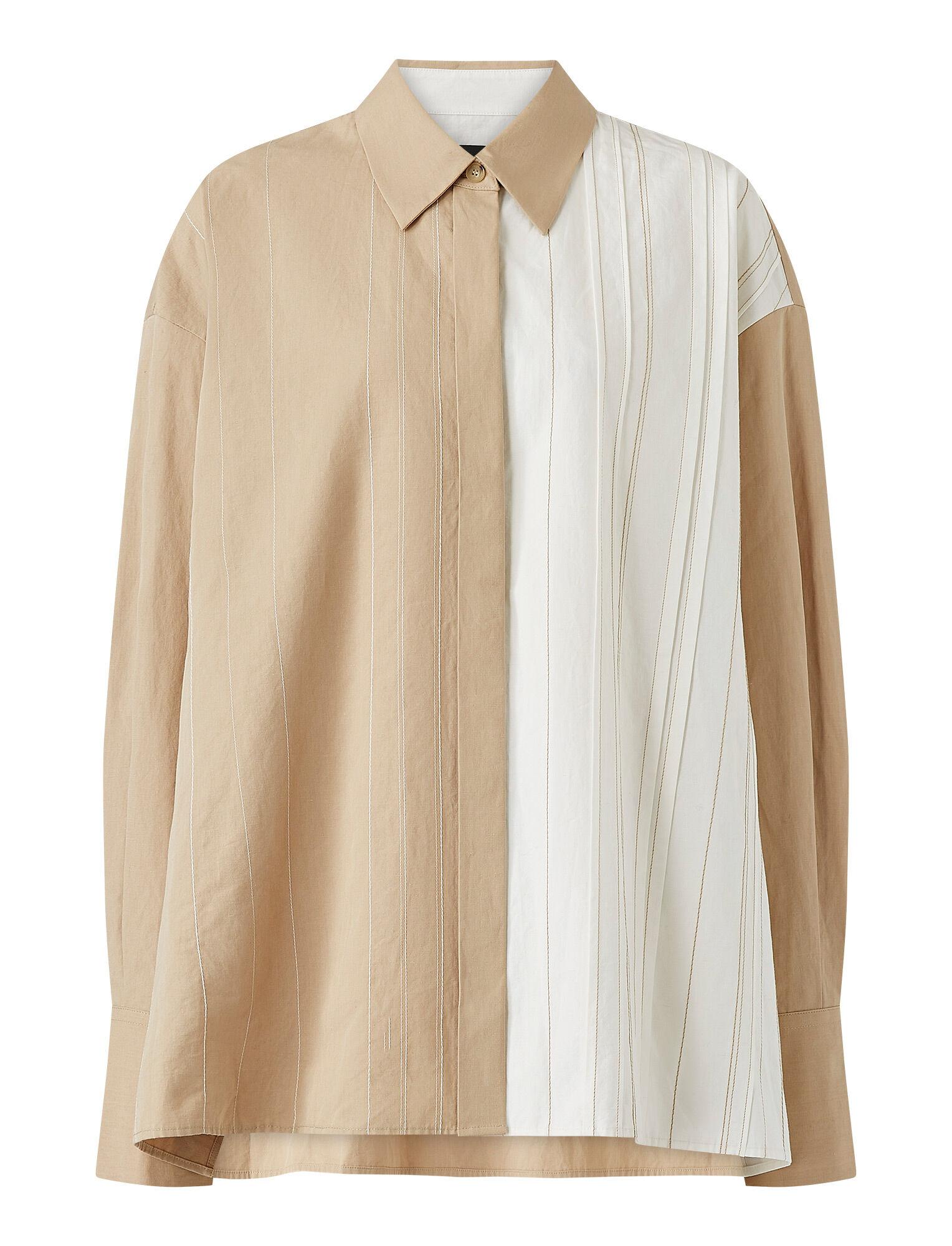 Joseph, Cotton Linen Bacar Blouse, in LINEN/OFF WHITE