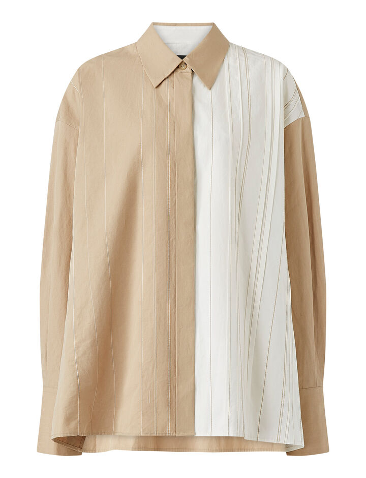 Joseph, Bacar-Cotton Linen, in LINEN/OFF WHITE