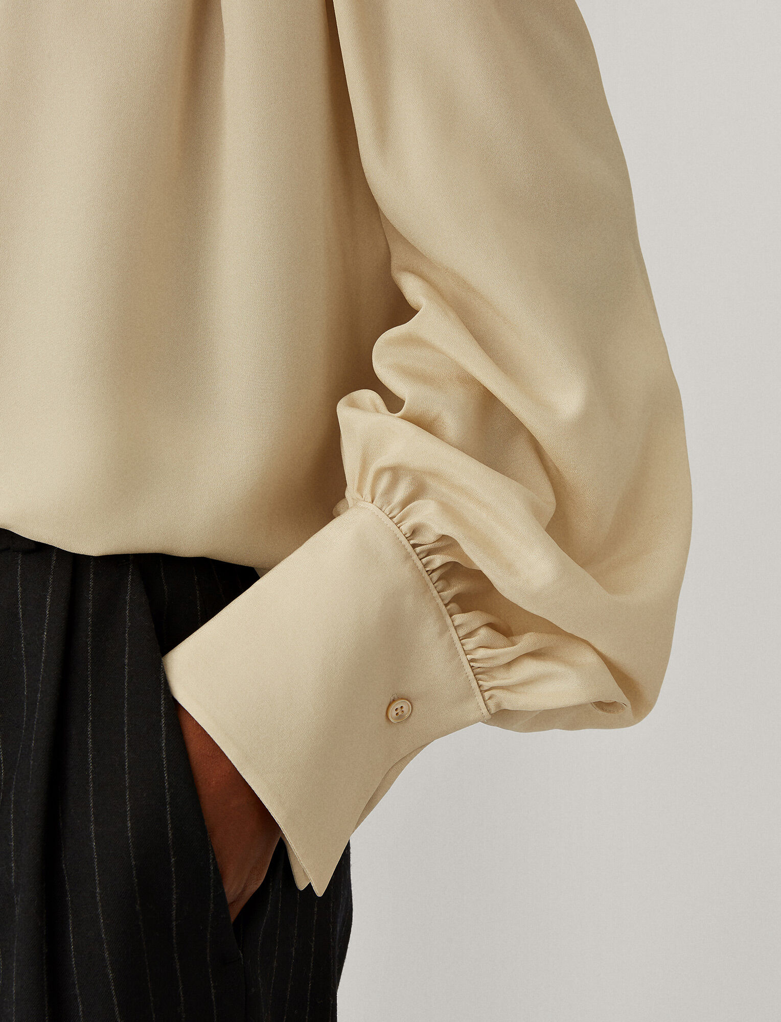 Joseph, Blanca Light Silk Blouse, in Marble