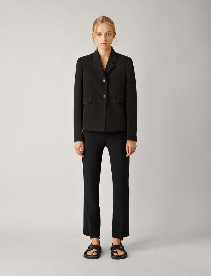 Joseph, Richman-Comfort Wool, in BLACK