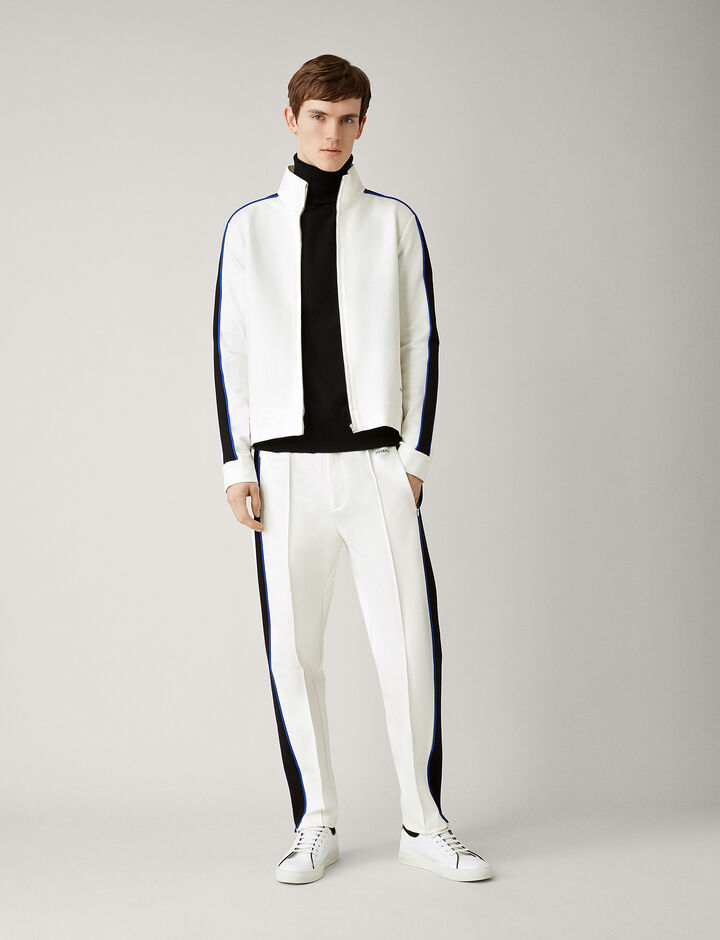 Joseph, Sprint Jersey Tracktop, in OFF WHITE