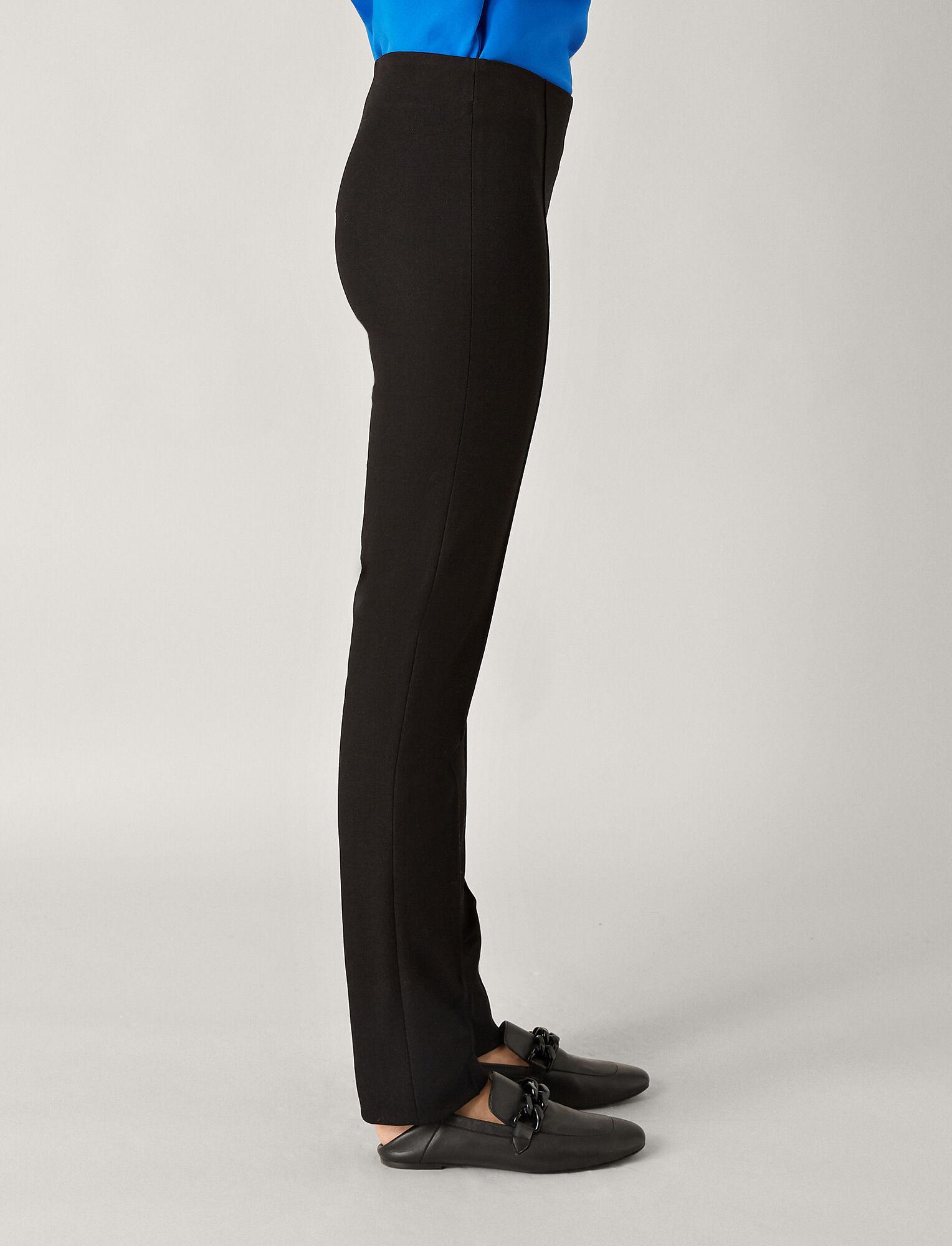 Joseph, Floyd Gabardine Stretch Trousers, in BLACK