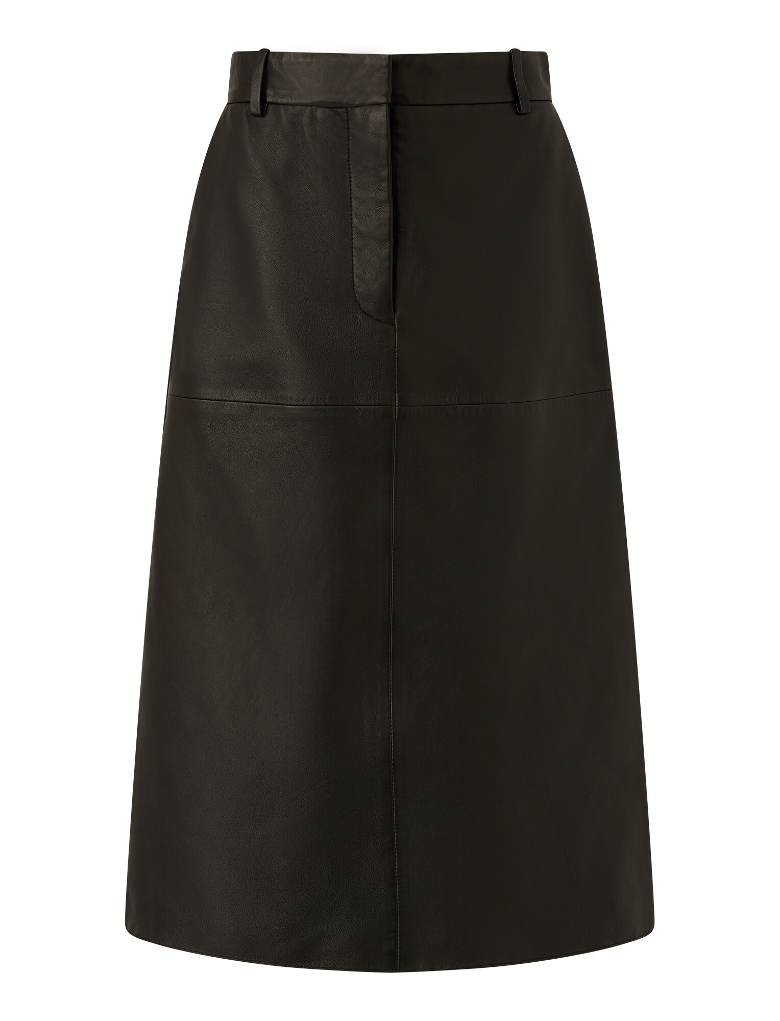 Joseph, Nappa Leather Salva Skirt, in BLACK
