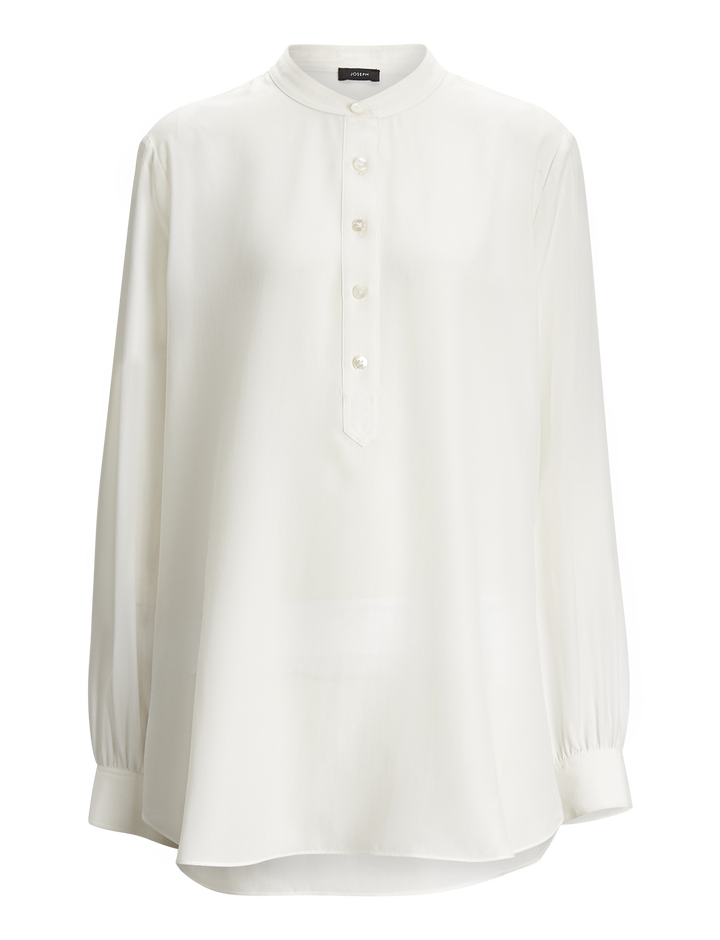 Joseph, Luke Silk Toile Blouse, in CREAM