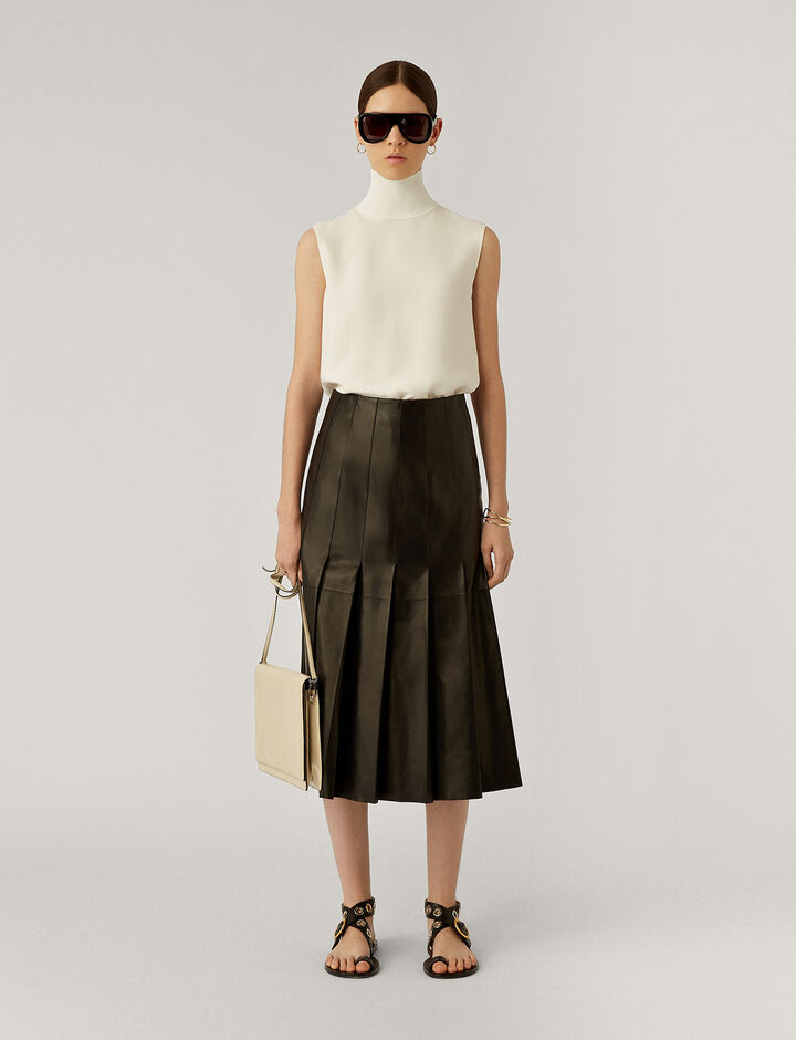 Joseph, Semry Nappa Leather Skirts, in Black