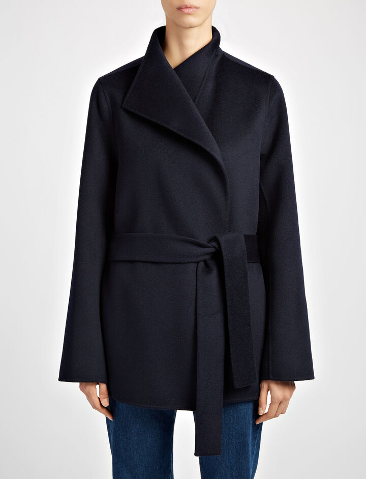 Joseph, Double Face Cashmere Lima Short Coat, in NAVY