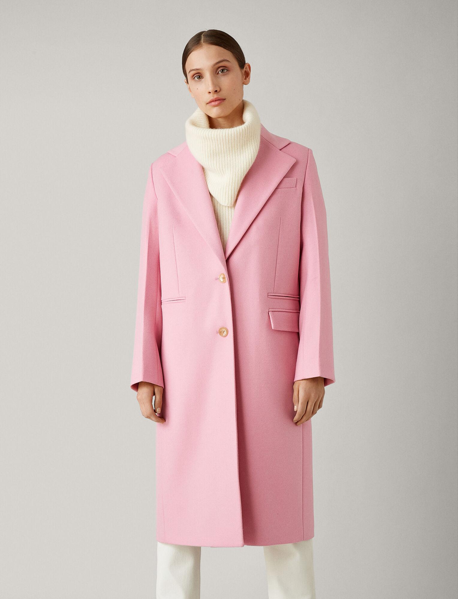 Joseph, New Magnus Double Wool Gloss Coat, in CARNATION