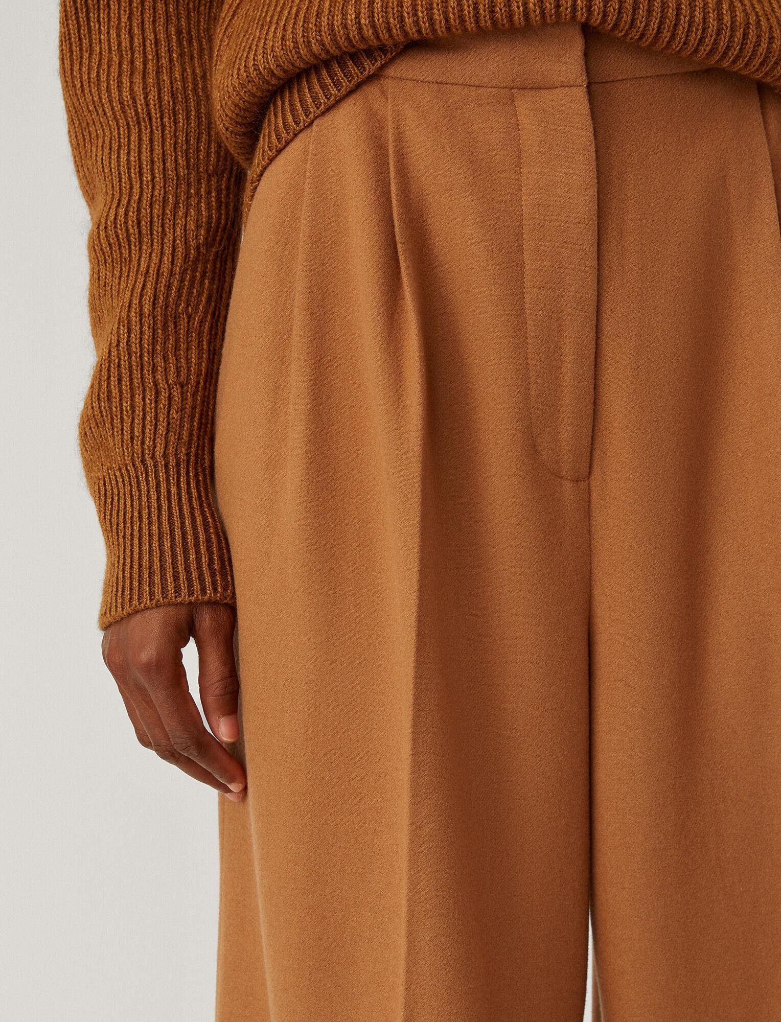 Joseph, Tima Silk Wool Flannel Trousers, in Sandalwood