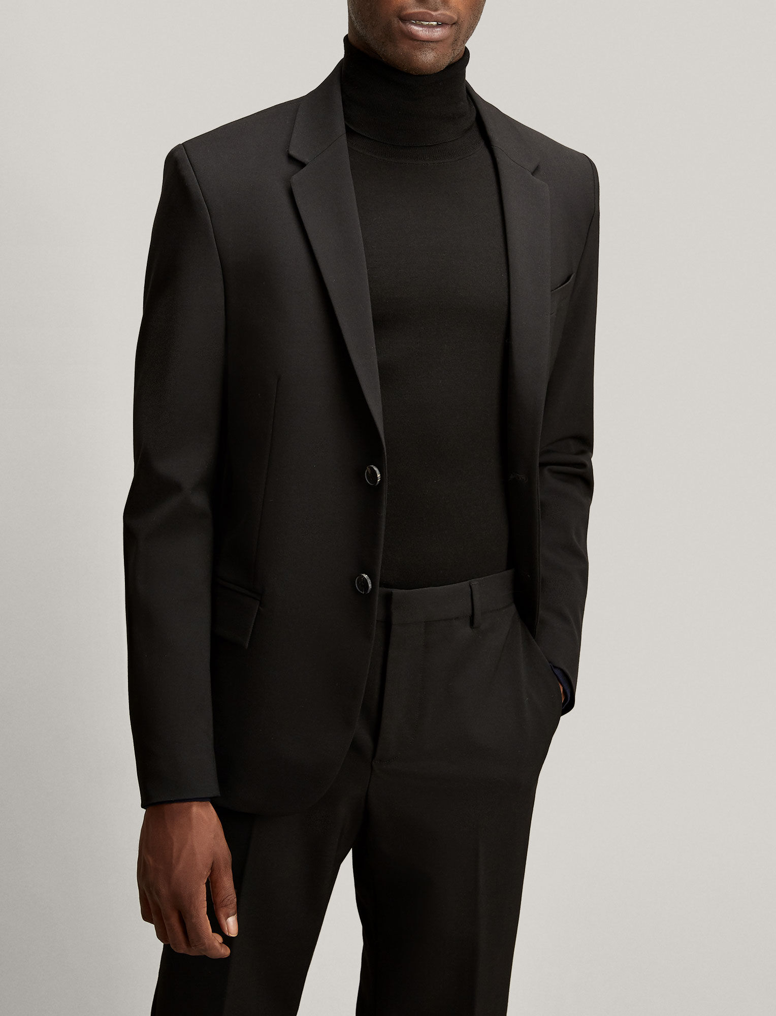 Joseph, Veste Reading en laine techno stretch, in BLACK