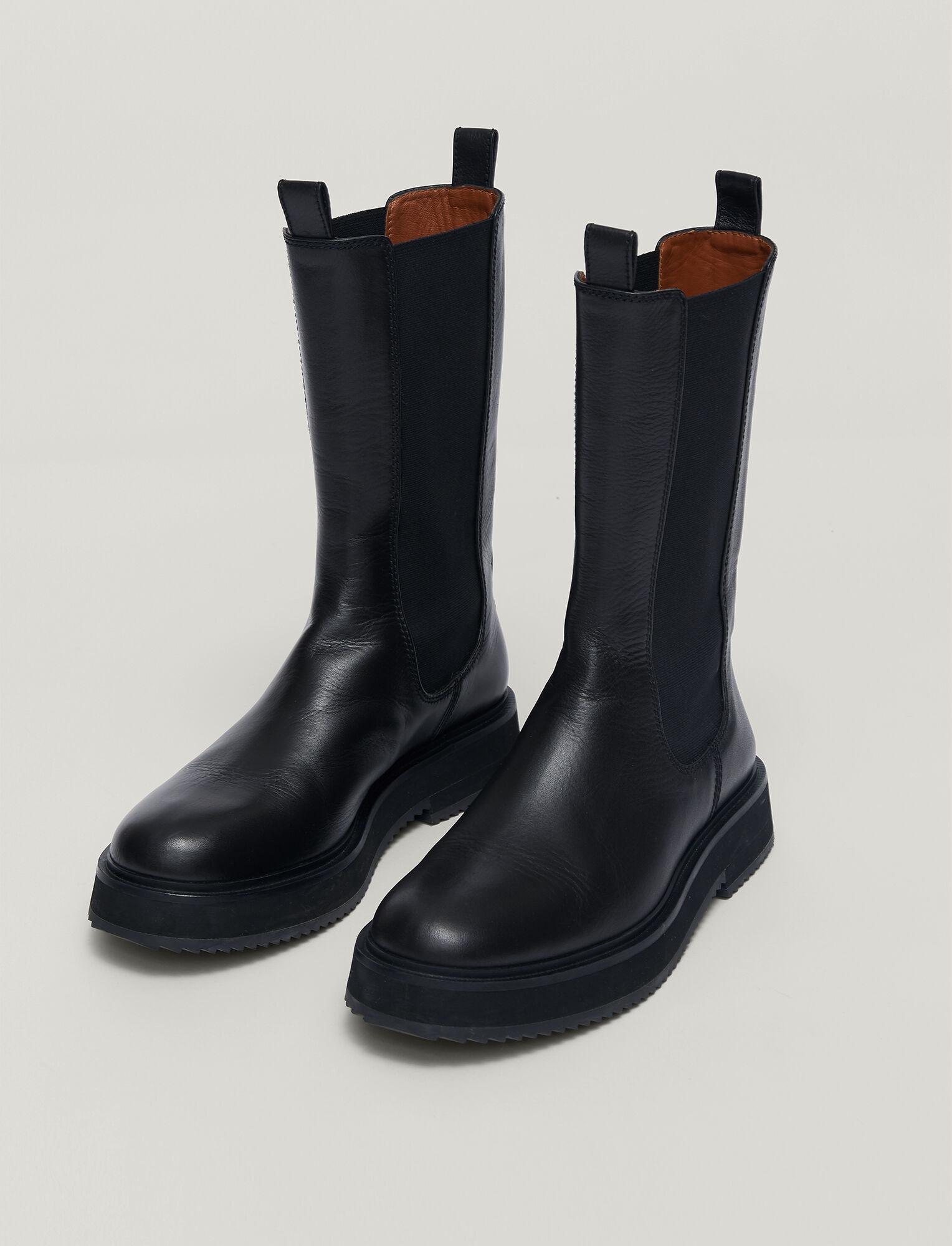 Joseph, Leather British Chelsea Boots, in BLACK