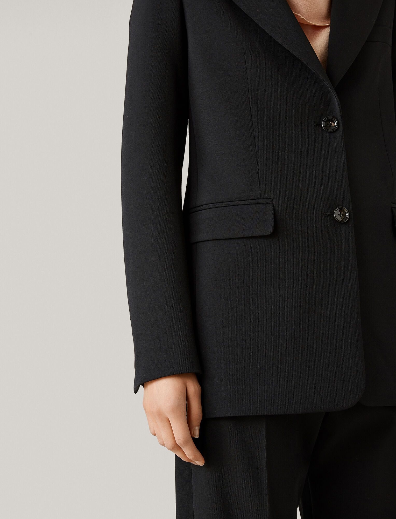 Joseph, New Lorenzo Comfort Wool Jacket, in BLACK