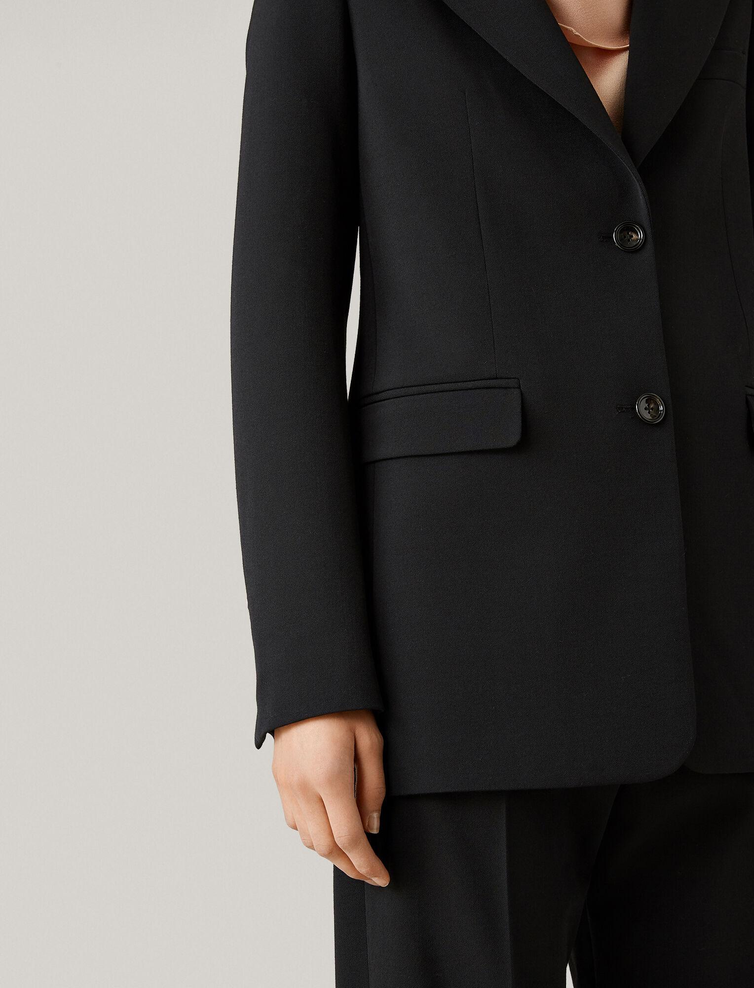 Joseph, New Lorenzo Comfort Wool Jacket, in BLACK