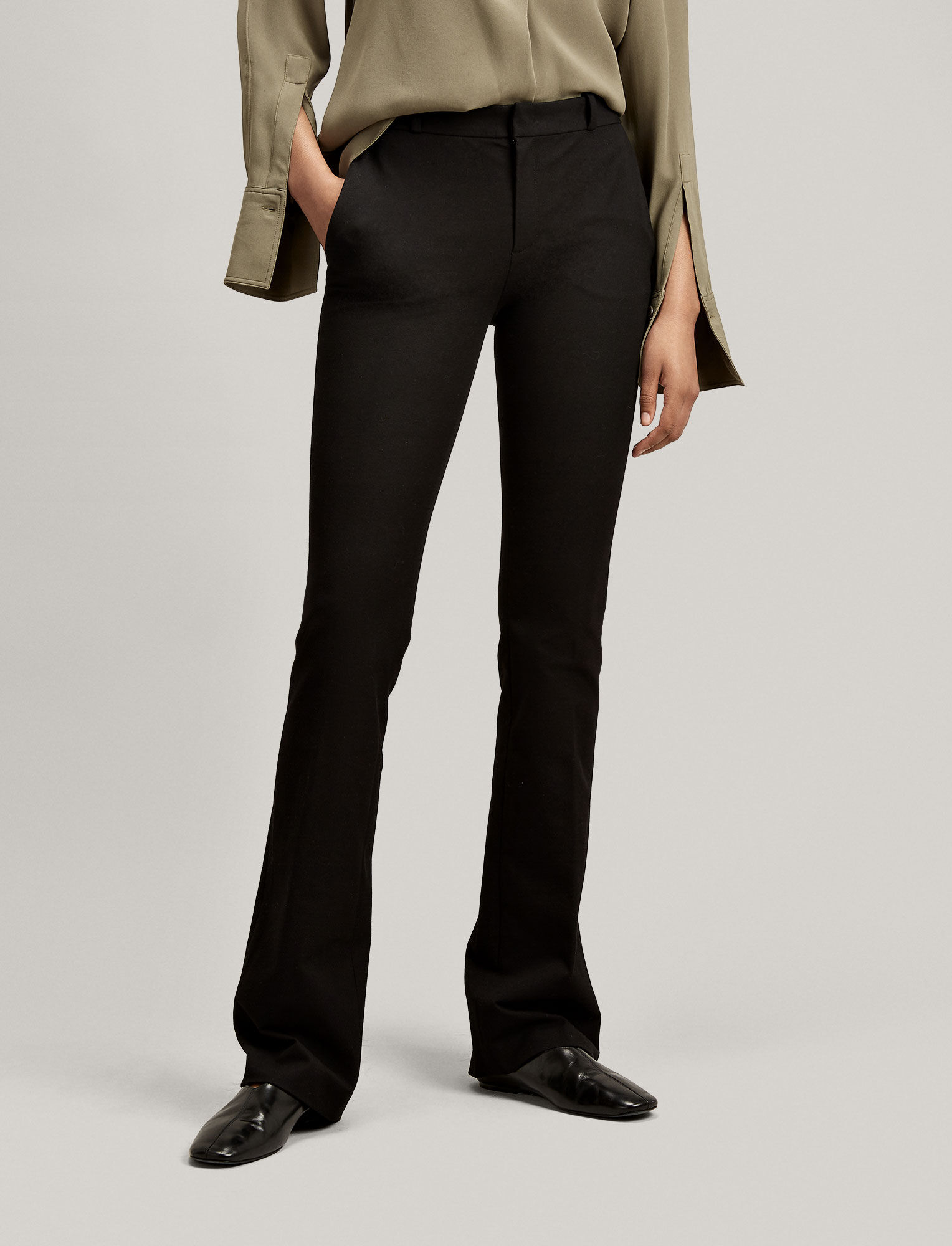 Joseph, Gabardine Stretch New Rocket Trouser, in BLACK
