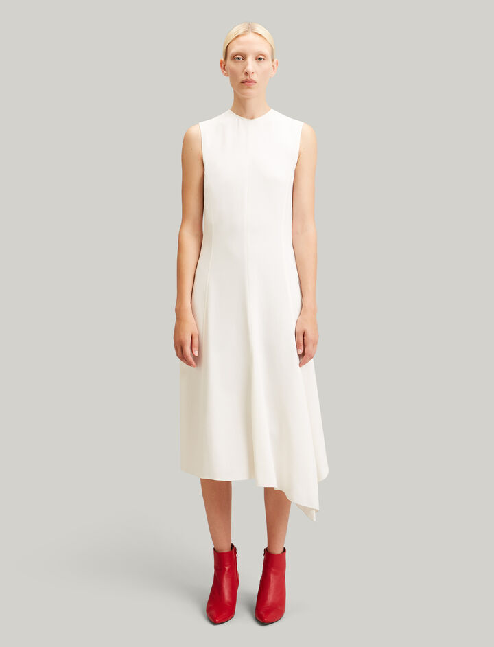 Joseph, Meline Viscose Cady Dress, in ECRU