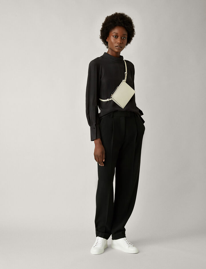 Joseph, Laurrel Silk Toile Blouse, in BLACK