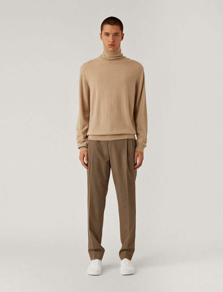 Joseph, Roll Neck Cashmere Knit Knitwear, in Beige