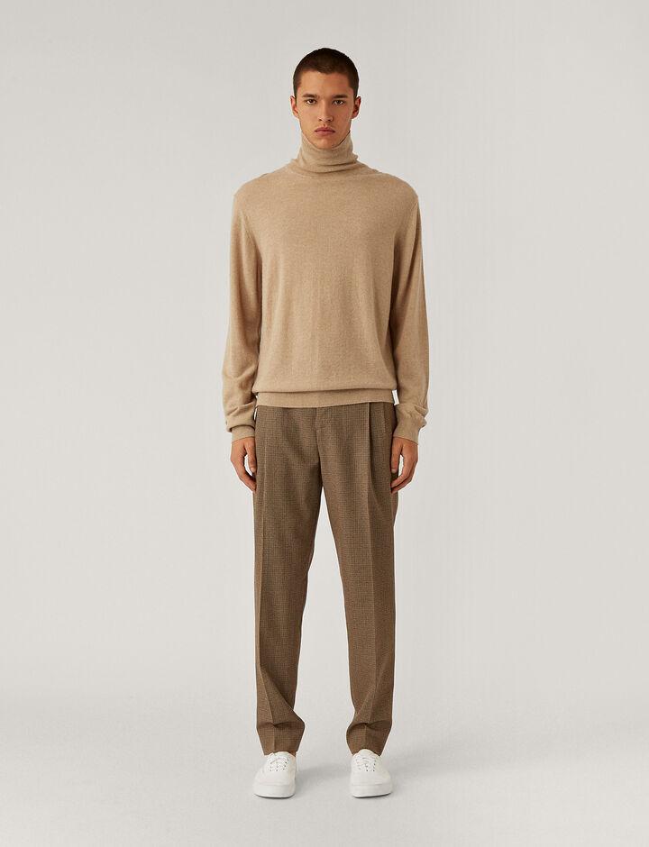 Joseph, Roll Neck Cashmere Knit Knitwear, in Beige