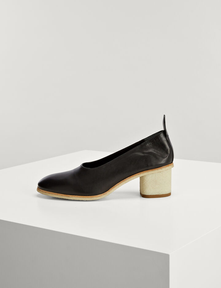 Joseph, Cuir de Veau Pump, in BLACK