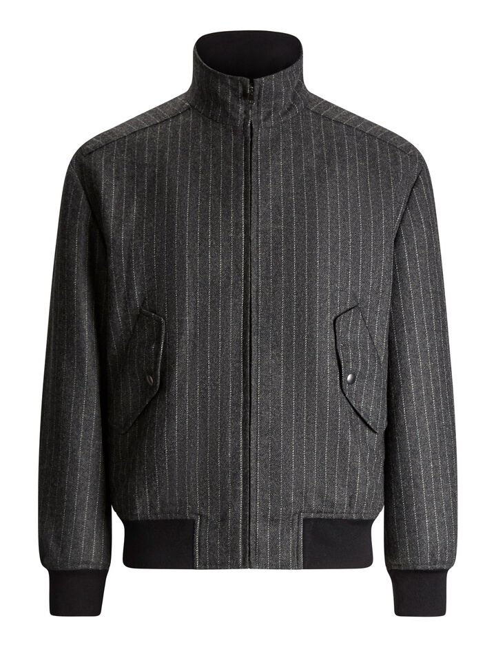 Joseph, Butler Pinstripe Wool Coat, in CHARCOAL