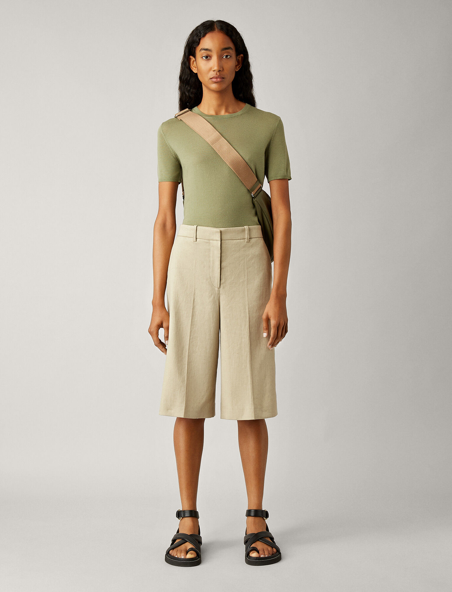Joseph, Samuel Stretch Linen Trousers, in SAND