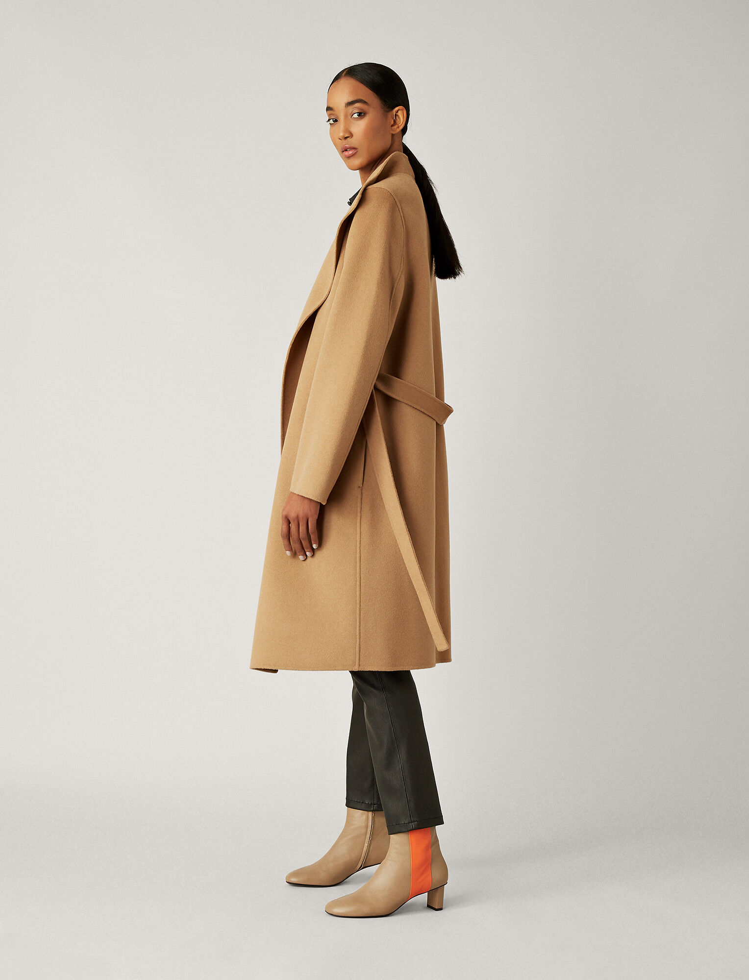 Joseph, Lima Double Face Cashmere Coat, in CAMEL