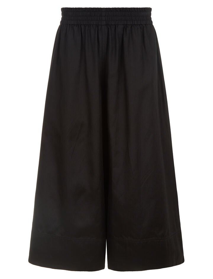 Joseph, Barlon Cotton Silk Shirting Trousers, in BLACK