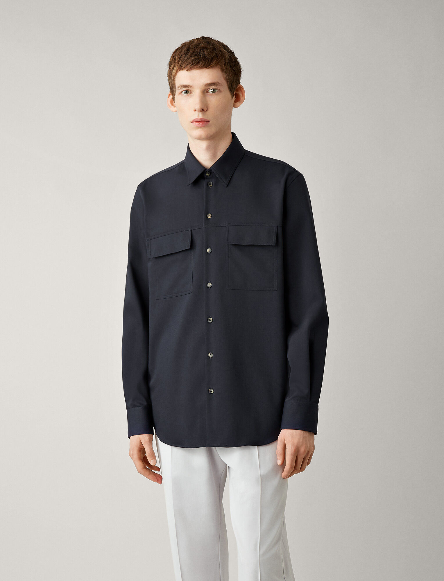 Joseph, Chemise en laine grand confort Norman, in NAVY