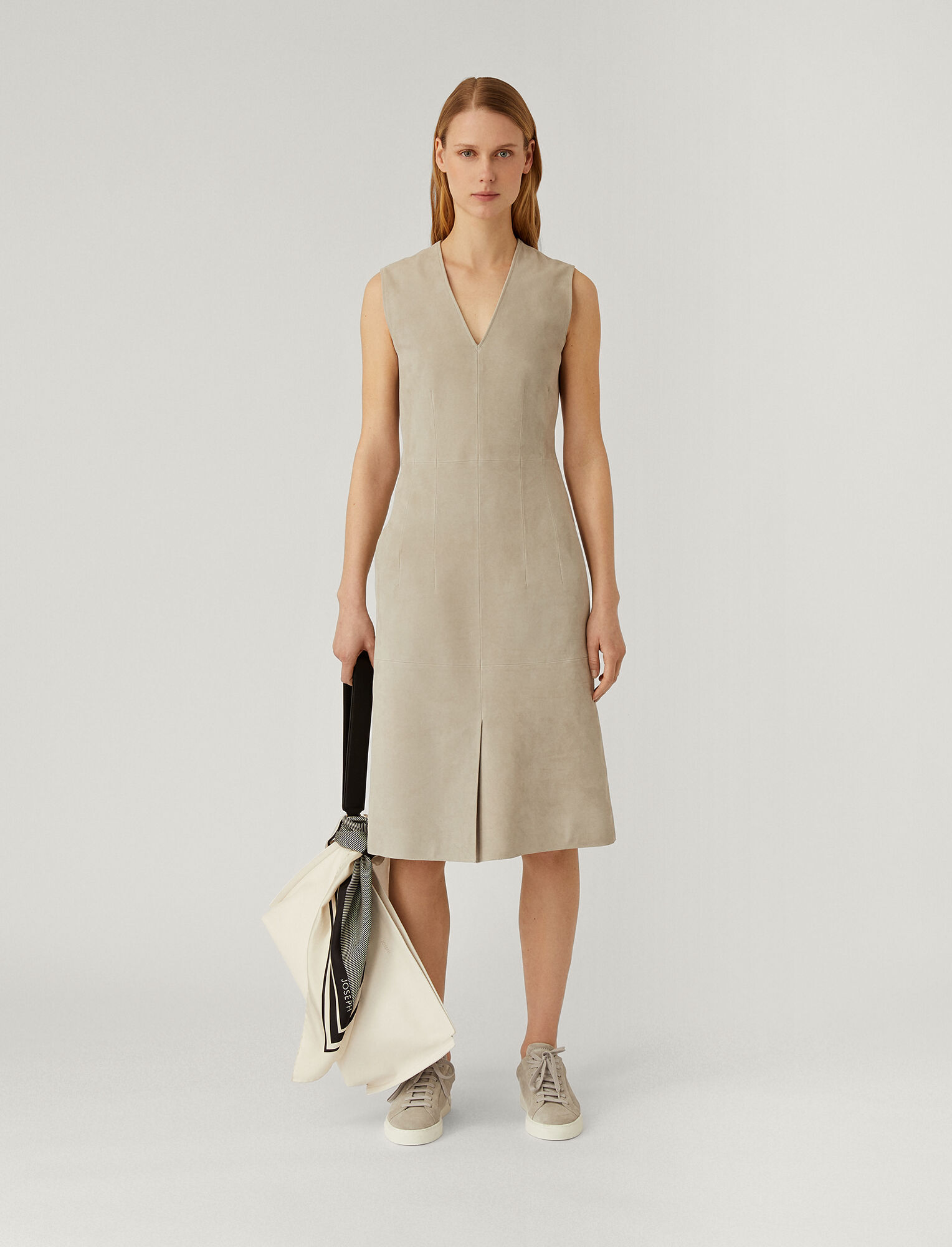 Joseph, Suede Nappa Cover Danty Dress, in CLOUD