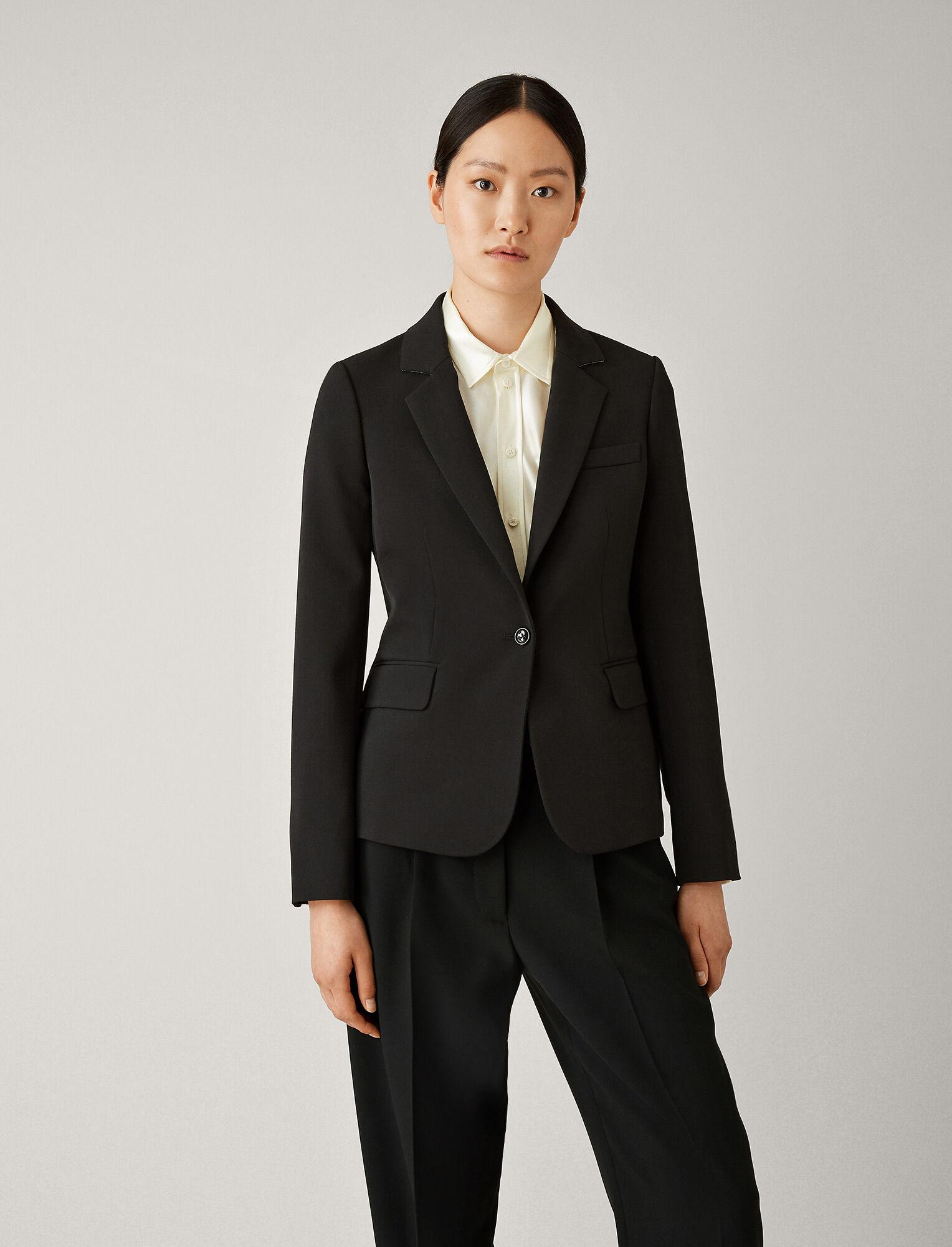 Joseph, Imma Comfort Wool Jacket, in BLACK